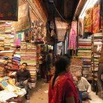 インドのサリーショップ