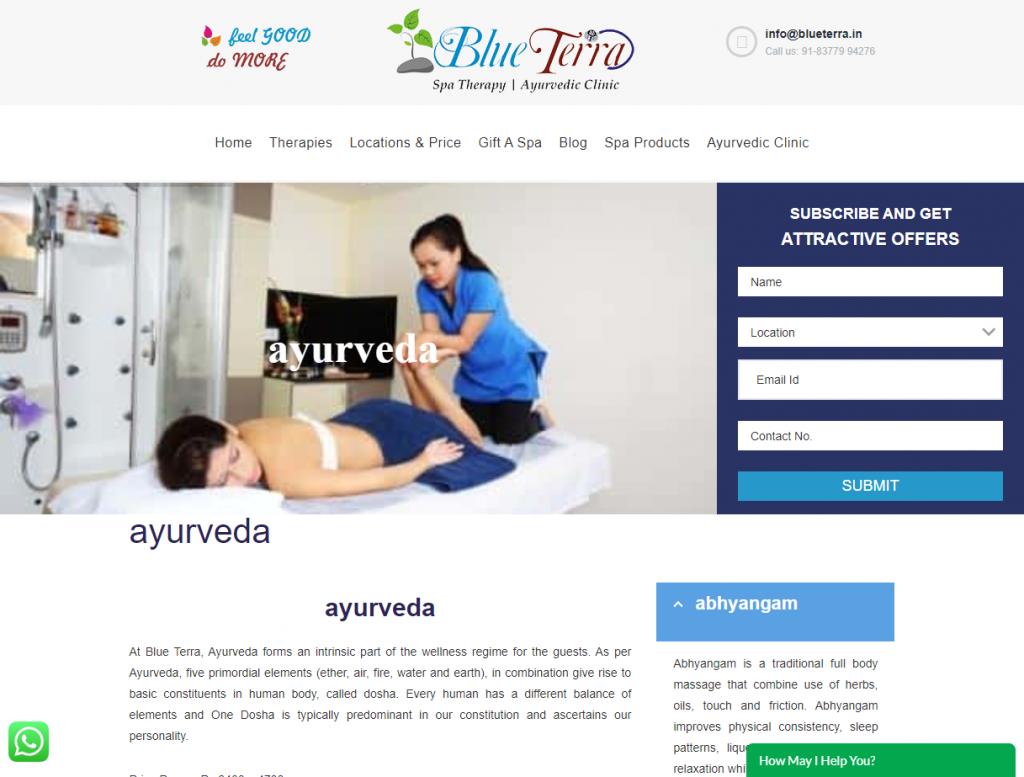 Blue Terraのホームページ