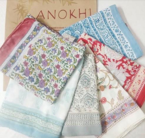 Anokhiのブロックプリント製品